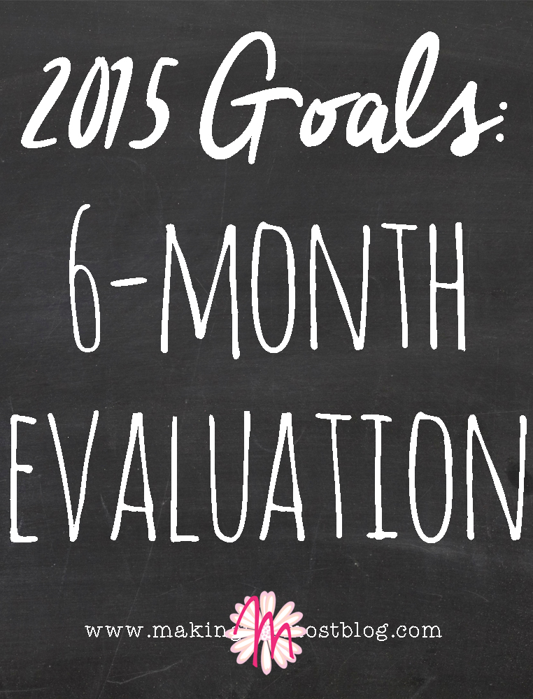 2015 Goals: 6-Month Evaluation | Making the Most Blog