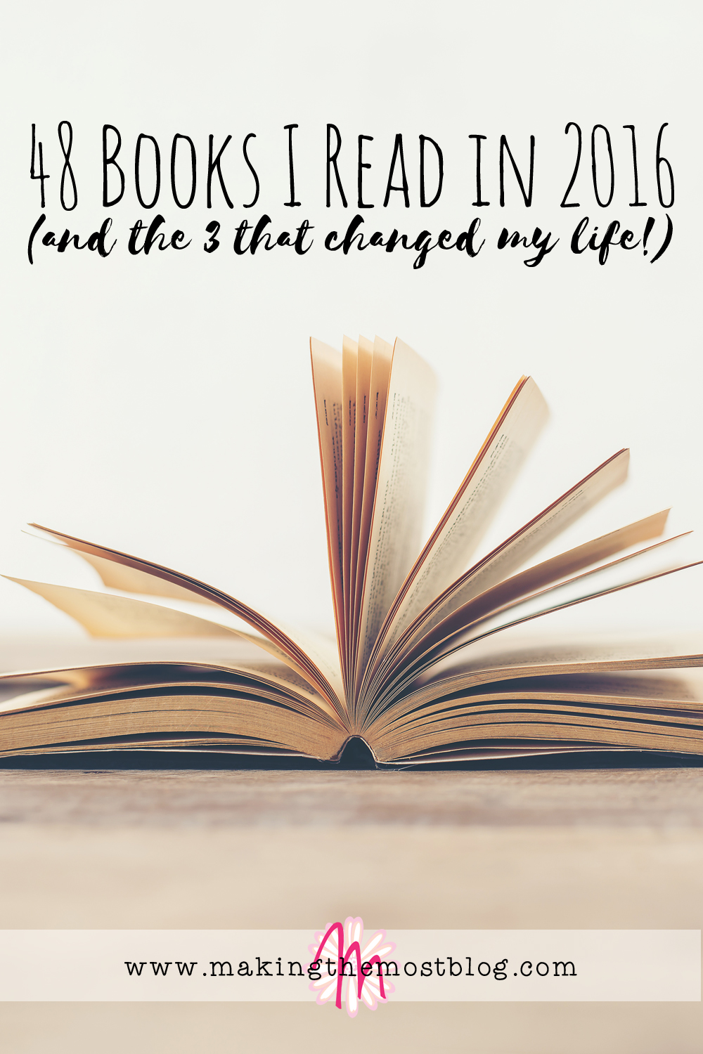 48 Books I Read in 2016 (and the 3 that changed my life!) | Making the Most Blog
