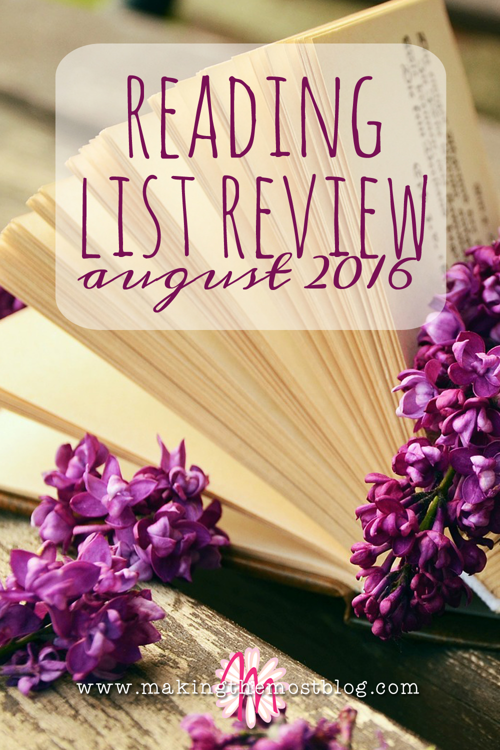 Reading List Review: August 2016 | Making the Most Blog