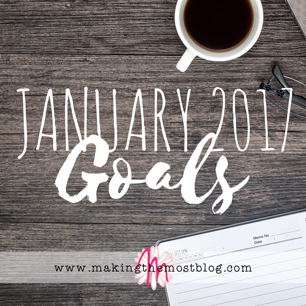 January 2017 Goals | Making the Most Blog