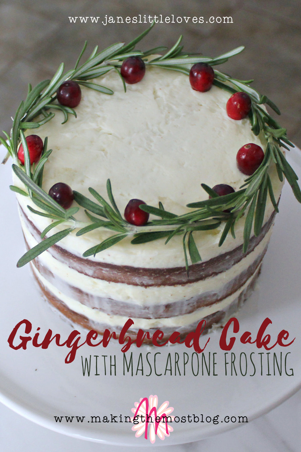 Gingerbread Cake with Marscapone Frosting Recipe | Making the Most Blog