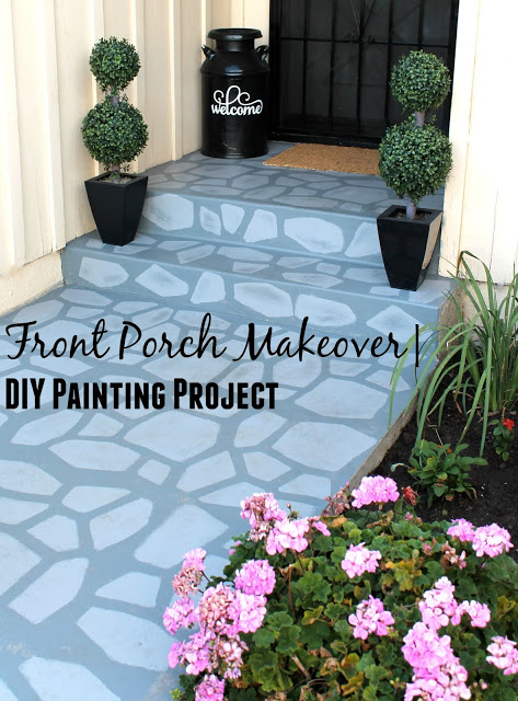 Front Porch Makeover | DIY Painting Project | Laura's Little Party | Tips & Tricks Tuesday Linkup | Making the Most Blog