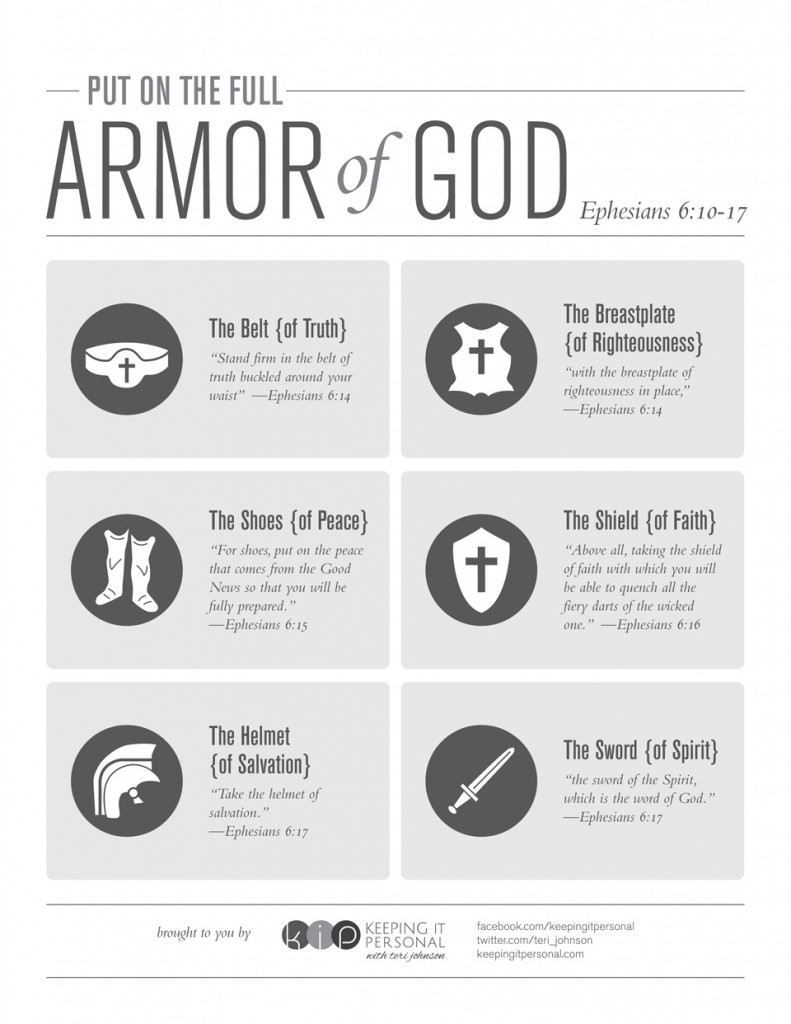 FREE Armor of God Printable from Keeping It Personal | Making the Most Blog