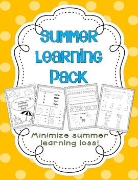 Summer Learning Pack by K-3 Connection | Making the Most Blog