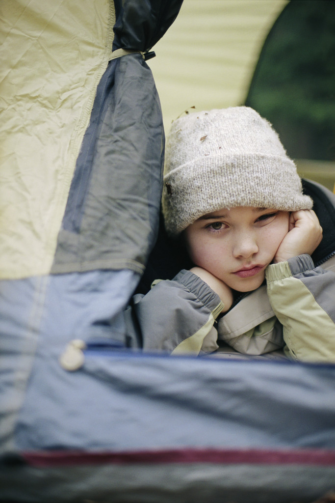 Child Lying in a Tent | Too Early to Think About Summer?  I Don't Think So | Making the Most Blog