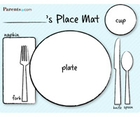 Printable Place Mat from Parents Magazine | Making the Most Blog