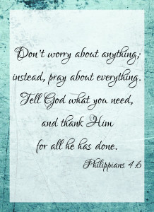 Philippians 4:6 | Making the Most Blog